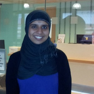 Asiya Ali, first year Psychology student